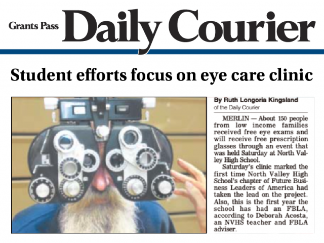 2015 Vision Clinic receives press