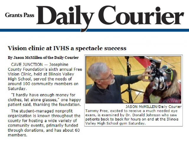 2018 Vision Clinic receives press